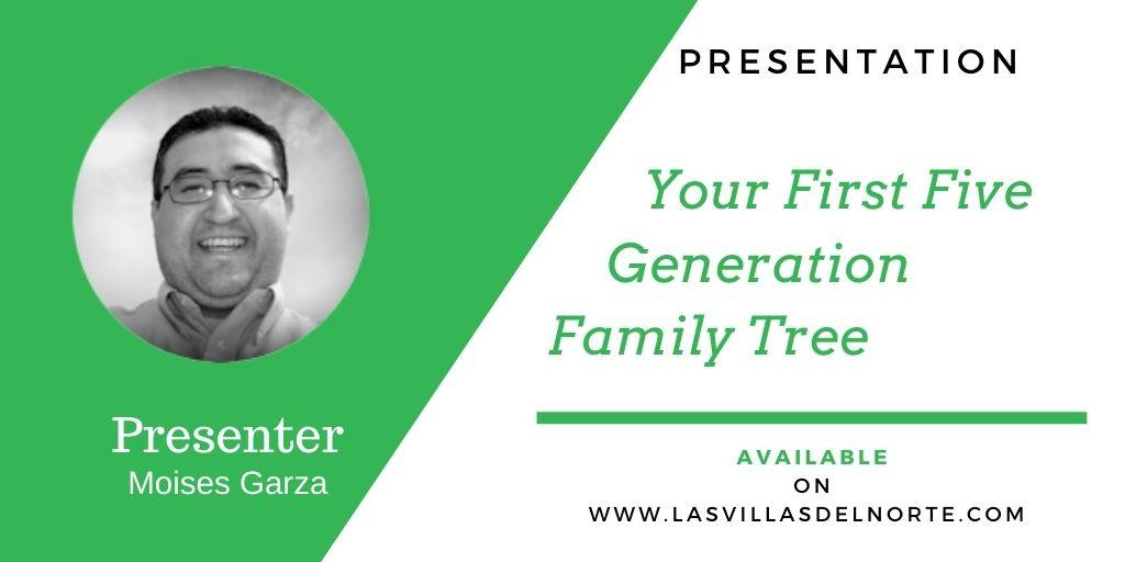 Your First Five Generation Family Tree