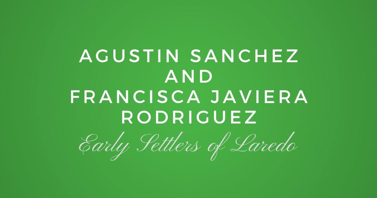 Agustin Sanchez and Francisca Javiera Rodriguez