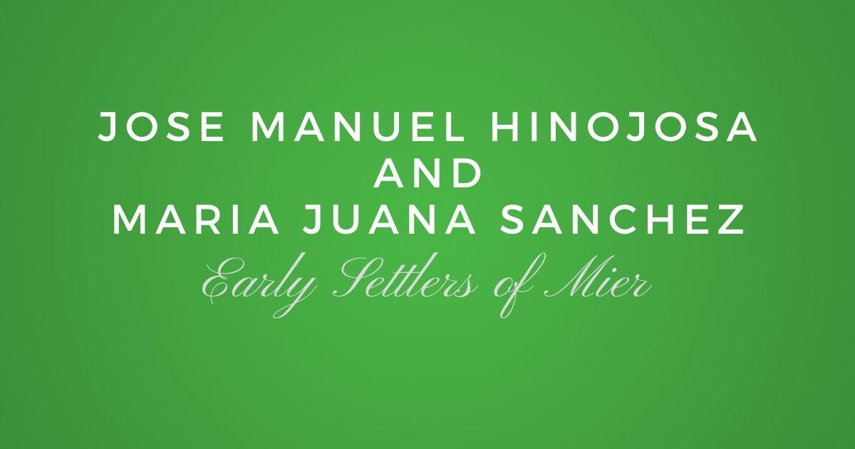 Jose Manuel Hinojosa and Maria Juana Sanchez