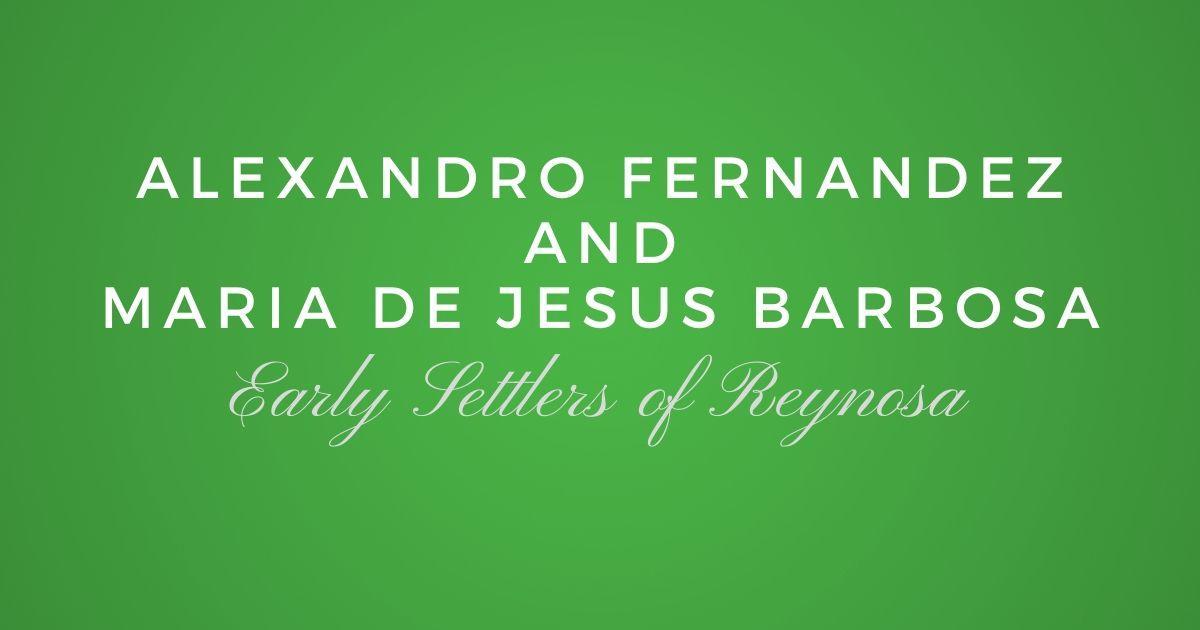 Antonio Alexandro Fernandez and Maria de Jesus Barbosa