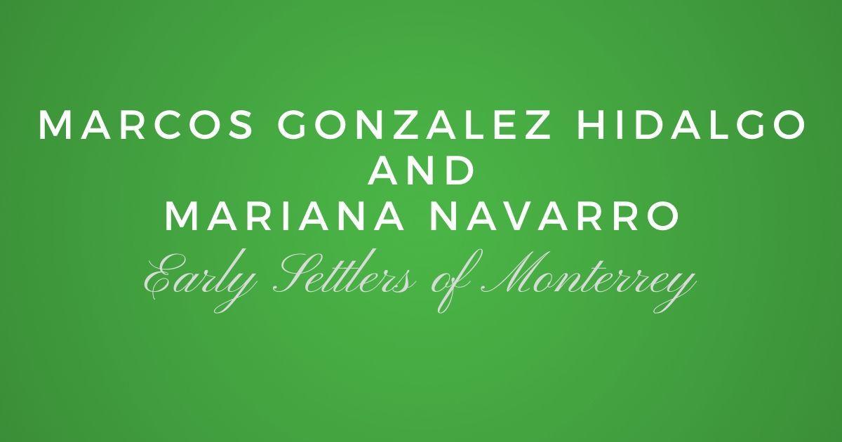Marcos Gonzalez Hidalgo and Mariana Navarro